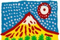 Mt. Fuji of my heart speaks (2014), by Yayoi Kusama, is up for auction at the Asia Art Archive this month. Photo: Asia Art Archive / Yayoi Kusama