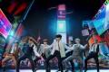 BTS perform during the 2020 MTV video music awards. Photo: Viacom/Handout via Reuters