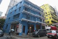 Exterior view of Blue House in Wan Chai. The Blue House cluster, three 20th century shophouse blocks (Blue House, Yellow House, and Orange House), won top honours in the 2017 Unesco Asia-Pacific Awards for Cultural Heritage Conservation. Photo: Nora Tam