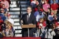 Senator David Perdue speaks during a campaign rally for US President Donald Trump at Middle Georgia Regional Airport in Macon, Georgia, on October 16. Photo: AP
