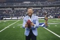 UFC fighter Conor McGregor poses on the sideline before an NFL game between the Dallas Cowboys and the Jacksonville Jaguars in Arlington, Texas, on October 14, 2018. Photo: AP