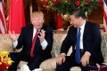US President Donald Trump and President Xi Jinping of China at Mar-a-Lago estate in Palm Beach, Florida, in 2017. Under Xi, China has narrowed its power gap with the United States. Photo: Reuters