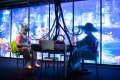 """A futuristic mahjong game at """"Heart of Cyberpunk"""" in Sham Shui Po in Hong Kong, a multidisciplinary fashion and design event. Photo: Design District Hong Kong"""