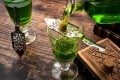 Absinthe is poured into a glass over a sugar cube in a traditional preparation called the 'absinthe ritual'. Absinthe is one of the many liqueurs that uses anise to give it its unique flavour. Photo: Getty Images/iStockphoto