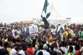 Protesters have taken to the streets every day for more than a week across Nigeria, posing a major challenge to President Muhammadu Buhari. Photo: AFP