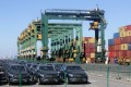 A file photo of Mercedes-Benz vehicles at Tianjin Port in northern China. Photo: Reuters
