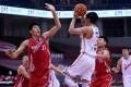 Wang Junjie of Bayi Rockets aims to shoot against Qingdao Eagles in the 2019-2020 Chinese Basketball Association season. Photo: Xinhua