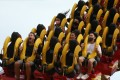 Visitors enjoy a ride on the roller coaster at Ocean Park on September 18, the day the theme park reopened after being shut for two months over Covid-19 social distancing measures in Hong Kong. Photo: K.Y. Cheng