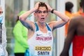 Team GB's Jake Smith is shocked after learning about his record-breaking time at the World Half Marathon Championships in Poland on Sunday. Photo: Mateusz Slodkowski