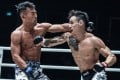 Thanh Le lands a punch on Ryogo Takahashi en route to a first-round TKO. Photos: ONE Championship.