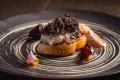 Scampi with foie gras at Aria. Photo: handout