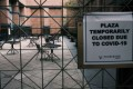 A closed plaza in New York City on October 21. The US has recorded at least 219,000 Covid-19 deaths, the highest toll in the world. Photo: Getty Images / AFP