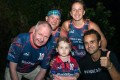 """Harriet Fitzgerald (centre) was the youngest participant in Hong Kong Scottish's """"I would walk 5,911 challenge"""" at four years old. She walked 30 kilometres with her parents and is pictured with ImpactHK CEO Jeff Rotmeyer, Brad Tuff, Sarah Monaghan and Roy Kinnear. Photos: Handout"""