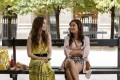 From left, Lily Collins and Ashley Park in Emily in Paris. Photo: Netflix