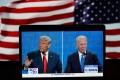 US President Donald Trump and his Democratic challenger Joe Biden attending their final debate in the 2020 presidential race. Photo: Xinhua
