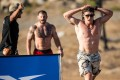 Justin Medeiros, the ultimate cool cucumber, heads out for the surprise lap two of the trail run. Photos: CrossFit Games