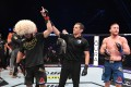 Khabib Nurmagomedov celebrates his victory over Justin Gaethje in their lightweight title bout at UFC 254 in Abu Dhabi, United Arab Emirates. Photo: Josh Hedges/Zuffa LLC via Getty Images