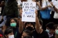 Pro-democracy protesters demonstrate in Bangkok on October 19. Photo: Reuters