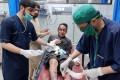 An injured man medical care at a hospital in Peshawar on October 27, 2020. Photo: EPA-EFE