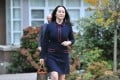 Meng Wanzhou leaves her Vancouver home on Tuesday before a hearing at the Supreme Court of British Columbia. Photo: AFP