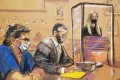 A courtroom sketch shows India Oxenberg giving a victim impact statement as NXIVM cult leader Keith Raniere (in blue) sits with his lawyer Marc Agnifilo inside the Brooklyn Federal Courthouse in New York on Tuesday. Image: Jane Rosenberg via Reuters