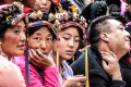 Audience members at the Danba beauty contest – presumably the progeny of the hereditary queens that used to rule the region. Photo: Shivaji Das