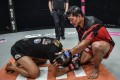 Former champion Eduard Folayang returns the respect from opponent Tony Caruso in the Circle in Singapore. Photos: ONE Championship