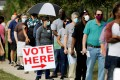 A higher than normal turnout is expected for the US presidential election. Photo: Reuters