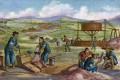 An illustration of Chinese immigrants panning for gold in California, the US, in the mid-19th century. The period forms the backdrop for new historical novel Chinese Brothers, American Sons. Photo: Getty Images