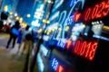 A monitor displays stock market information at a brokerage in Hong Kong. Alibaba shares slump in New York and Hong Kong after a surprise halt to Ant Group's US$39.67 billion IPO on November 3, 2020. Photo: Bloomberg