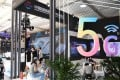 The 5G communication services exhibition area of the 2020 China International Fair for Trade in Services in Beijing. Photo: Xinhua