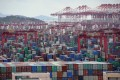 Shipping containers are seen at the Yangshan Deep Water Port in Shanghai. Photo: Reuters