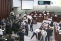 Legco descends into chaos as lawmakers clash during a House Committee meeting in May. Photo: Handout