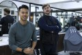 Physiotherapist Kieran Rogers and barber Zephon Raine want to help men talk about their feelings more. Photo: K.Y. Cheng