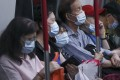 Passengers wear face masks on the MTR on October 7. Photo: Jonathan Wong