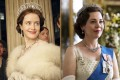 Claire Foy (left) as the young Queen Elizabeth and Olivia Colman as Queen Elizabeth in later years in The Crown. Imelda Staunton will be the third and final actress to portray the British monarch in the Netflix series. Photo: AP