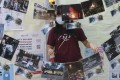 Photos showing last year's occupation of the Chinese University campus are displayed in an exhibition organised by the student union. Photo: K. Y. Cheng