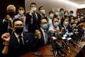 Pan-democratic legislators announced their resignation from the Legislative Council on November 11. Photo: Reuters