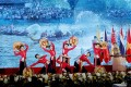 Performers at the opening ceremony of the Asean summit in Hanoi, Vietnam. Photo: EPA