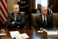 Donald Trump, left, and James Mattis, former US secretary of defence. Photo: Bloomberg