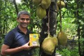 James Joseph with his green jackfruit 365 flour, which helps lower blood sugar in type 2 diabetics and reduces the side effects of chemotherapy. Photo: courtesy of James Joseph