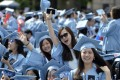 Graduates of Columbia University attend a commencement ceremony in New York City in May 2015. Photo: Xinhua