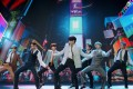 BTS performed from South Korea for the 2020 MTV Video Music Awards. Photo: MTV/AFP