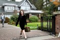 Meng Wanzhou, the chief financial officer of Huawei Technologies, leaves her home on Monday to attend a court hearing in Vancouver, British Columbia. Photo: Reuters