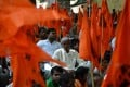 Indian United Hindu Front activists protest against 'Love Jihad' in New Delhi. Photo: AFP