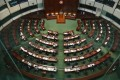 Empty seats abound in Legco on November 12 after opposition lawmakers resigned en masse. Photo: Dickson Lee