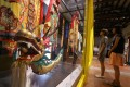 Visitors look at a dragon head for the Tai O dragon boat parade at the Intangible Cultural Heritage Centre in Sam Tung Uk Museum in Tsuen Wan in July 2016. Chinese culture is alive and well in Hong Kong. Photo: Dickson Lee
