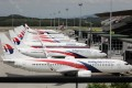 Grounded Malaysia Airlines planes are parked at the Kuala Lumpur International Airport amid the Covid-19 outbreak. Photo: Reuters