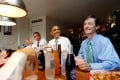 Then-Chief of Staff of the Vice President Bruce Reed (right) with then-US President Barack Obama (centre) at the Good Stuff Eatery on Capitol Hill in Washington, August 3, 2011. Reed is now tech adviser to President-elect Joe Biden. Photo: Reuters