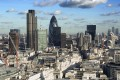 London's skyline, including the Gherkin and Lloyd's of London, with the buildings of the Docklands in the right background. Photo: Handout